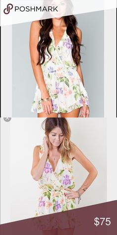 Riri Romper SMYM riri romper sold out online! The front used to be sewn together but isn't. Can stay closed with fashion tape or if you wanted to sew it it's an easy fix Show Me Your MuMu Pants Jumpsuits & Rompers