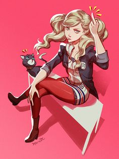 Y'all need to stop sexualizing her; she's real tired of it :P Persona 5 Ann, Persona Five, Persona 5 Joker, Gato Anime, 5 Anime, Anime Art, Character Art, Character Design, Lady Ann