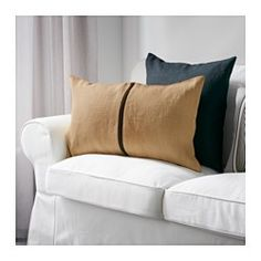 IKEA - HELGONÖRT, Cushion cover, Jute fiber, with its natural color and varying texture gives the cushion cover a distinctive look.The zipper makes the cover easy to remove. $10