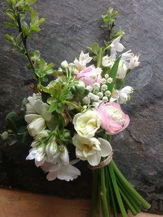 Spring flower girls by The Garden Gate Flower Company.