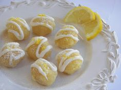 Red Couch Recipes: Lemon Brownie Bites