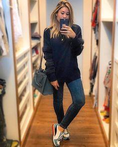 """ef459f6ce Multi Ponto Denim on Instagram: """"Básico chic e quentinho, tudo que agente  a-d-o-r-a pra essa estação! 🍃A @fepontelo apostou no look todinho assim 😍  Calça ..."""