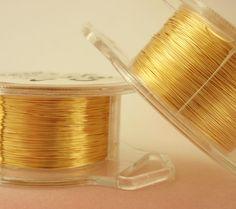 30 gauge gold color enameled copper wire