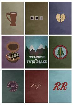 Twin Peaks Poster colors 8x10 11x17 or 13x19 TV by missingtime, $14.00