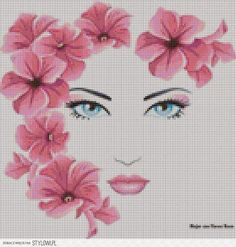 """""""I know a 'face' where the wild thyme blows, Where oxlips and the nodding violet grows, Quite over-canopied with luscious woodbine, With sweet musk-roses and with eglantine. Beaded Cross Stitch, Cross Stitch Borders, Cross Stitch Flowers, Cross Stitch Charts, Cross Stitch Designs, Cross Stitching, Cross Stitch Patterns, Diy Embroidery, Cross Stitch Embroidery"""