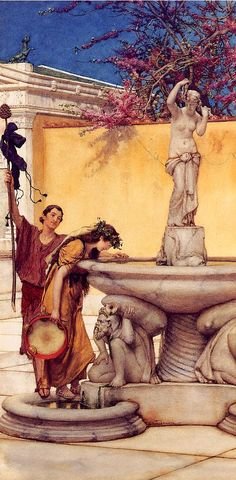 Alma Tadema Between Venus and Bacchus. Alma-Tadema, Lawrence • download painting • Gallerix.ru