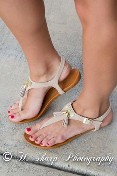 The Casi Sandals - Nude Love these sandals with tassels! only $24.95