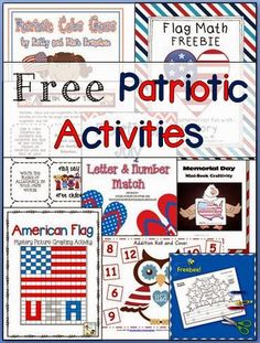 Freebie Friday - Patriotic Fun! Awesome list of free USA patriotic activities for elementary students!
