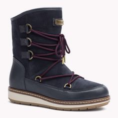 Tommy Hilfiger Suede Mixed Boot - midnight - Tommy Hilfiger Boots - main image