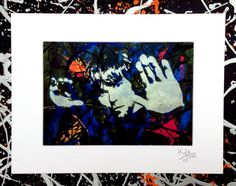 Ian Brown - The Stone Roses signed pop art canvas by Headon Art/Kyle Maclennan
