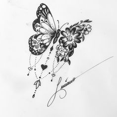 Our Website is the greatest collection of tattoos designs and artists. Find Inspirations for your next Tattoo . Search for more Butterfly Tattoo designs. Back Tattoos, Wrist Tattoos, Future Tattoos, Flower Tattoos, New Tattoos, Body Art Tattoos, Cool Tattoos, Drawing Tattoos, Drawings