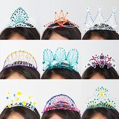 DIY for NYE = 3D Tiaras, Created by the One and Only 3Doodler #3dprintingprojects