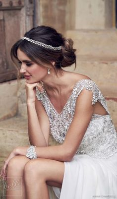 Anna Campbell 2019 Wedding Dresses ★ botanical inspired pattern of hand embellished silver crystals headpiece anna campbell 2019 Next Wedding, Wedding Season, Dream Wedding, Anna Campbell, Wedding Rehearsal, Wedding Dress Styles, Wedding Outfits, Photography Women, Portrait Photography