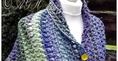 A lovely shawl with a gorgeous drape when worked with soft yarn; made with Aunt Aggie's Treble Mesh Stitch, making it substan...