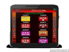 Trucos GTA - Todo En Uno  Android App - playslack.com ,  Ahora puedes tener en tu móvil todos las claves de la saga Grand Theft Auto SIN NECESIDAD DE INTERNET! pero recuerda desactivar el guardado automático para que no pierdas futuras recompensas.- Desde el Primer GTA (1997) hasta GTA V (2013).- Trucos disponibles para todas las plataformas existentes (PC, PS4, PS3, PS2, PSP, PSX, XBOX, ONE, DS, Móviles). - Futuras actualizaciones para las próximas versiones de la saga.Nota: Esta Aplicación…