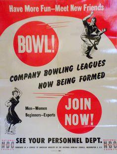 Vintage Bowling Poster