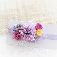 DIY Baby Flowercrown Headband Headpiece Fabric Flowers