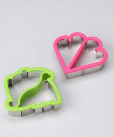 Take a look at this Stainless Steel Crust Cutters - Set of Two by Evriholder on #zulily today!