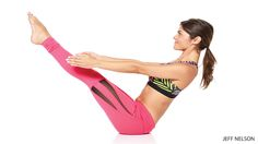 Learn Boat Pose pose (Paripurna Navasana). Follow step-by-step instructions  CORE STRENGTHENING