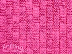 The Basket Weave Ribbing pattern is worked using only knit and purl stitches but the textured effect is quite dramatic. The wrong side is also interesting. Loom Knitting Stitches, Crochet Stitches Patterns, Arm Knitting, Stitch Patterns, Knitting Patterns, Knitted Washcloths, Knit Dishcloth, Knitting Abbreviations, Knitting Squares