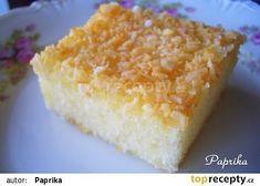 Řezy raffaelo recept - TopRecepty.cz Tapas, Yogurt, Whisky, Cornbread, Vanilla Cake, Dairy, Cheese, Cooking, Ethnic Recipes