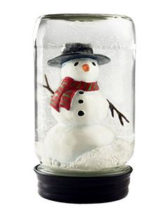 Snowman in Jar Winter Decor Snow Globe by CoolSnowGlobes * You can get more details by clicking on the image.