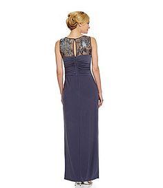 Ignite Evenings Lace IllusionNeckline Gown #Dillards