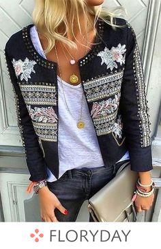 Villa Smilla Boho Jacke antra M - Women Style Trend Fashion, Moda Fashion, Fashion Looks, Fashion Outfits, Womens Fashion, Classy Fashion, Bohemian Fashion, Fashion Fashion, Fashion News