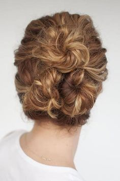10 Festive Updos For Curly Haired Girls: Triple Buns