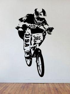 Real Bmx Biker Decal Sticker Wall Vinyl Art Sport By
