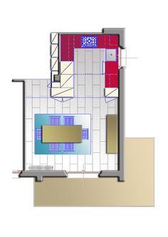 Ristrutturazione villa unifamiliare - Pianta cucina - Maria Teresa Azzola Designer - Calolziocorte (LC) 2011