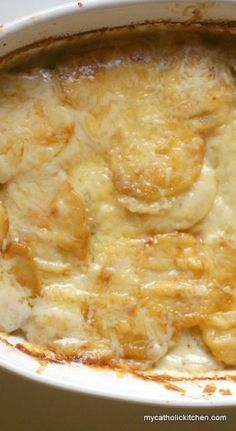 Scalloped Potatoes. These ones look really good! I'm making Easter Dinner this year and the menu is scalloped potatoes (yum!) and ham (ick). Gotta go with what the family wants.