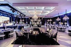 Casamento moderno: decoração preta e branca - Foto: Studio One