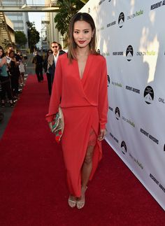 Jamie Chung In Mason by Michelle Mason: Premiere Of Paramount And Hulu's 'Resident Advisors' - Red Carpet