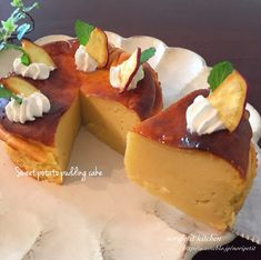 Sweets Recipes, Cake Recipes, Cooking Recipes, Sweets Cake, Cupcake Cakes, Sweet Potato Pudding, Japanese Pastries, Happy Foods, Polish Recipes
