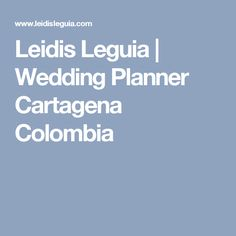 Leidis Leguia Wedding Planner Cartagena Colombia