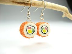 Hey, I found this really awesome Etsy listing at https://www.etsy.com/listing/86966132/california-maki-sushi-earrings-food