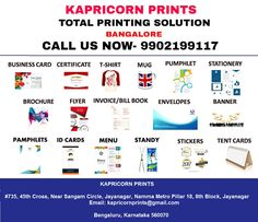 Digital Printing Bangalore: Total Business/ Corporate Printing  Service Lab Pr...