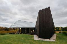 Sculptural Geometry Shapes a Wood Modern Residence in Estonia by Kadarik Tüür Arhitektid