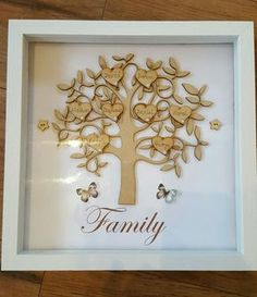 Beautiful **Personalised** Wooden FAMILY TREES FRAMES. Unique keepsake gift in Crafts, Hand-Crafted Items | eBay