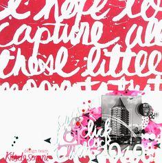 Layout Scrapbooking Rosa - Pink
