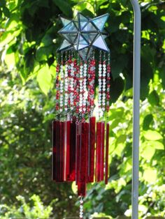 very pretty glass wind chimes ... pinned from bing.com because the Zinniamarketplace.com is no longer in existence