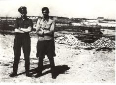 Two SS men in Plaszow concentration camp.