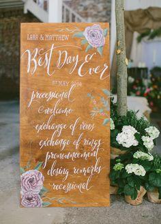 """Best Day Ever"" #wedding sign"