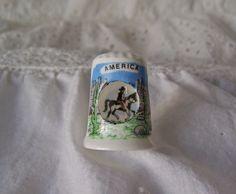 Vintage America Peep Thimble by cynthiasattic on Etsy, $21.00