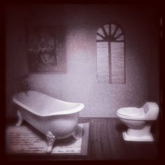 The Little Loo in my Blythe Condo. WIP #doll #house #bathroom #miniature #dollhouse #furniture