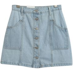 Chicnova Fashion A-line Denim Mini Skirt (36 CAD) ❤ liked on Polyvore featuring skirts, mini skirts, bottoms, faldas, clothing - skirts, denim miniskirt, denim skirt, high waisted denim skirt, blue mini skirt and high waisted mini skirt