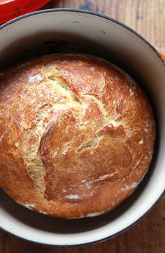 No-Knead Artisan Bread: Love making homemade bread, and this looks pretty easy.  Can't wait to try this!