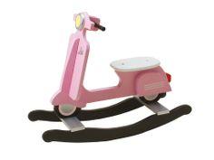 Schaukelpferd Moped Vespa Roller Motorrad Kinder Holz Rosa Blau Spielzeug