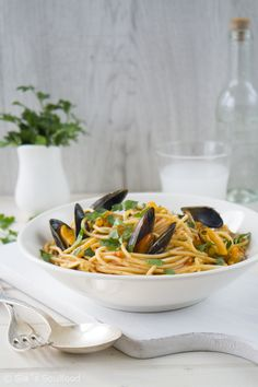 Spaghetti mit Miesmuscheln